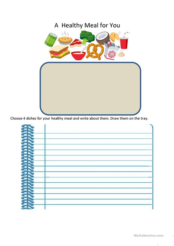 Healthy meal:  Writing Task