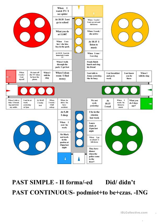 Ludo Past Simple & Past Continuous