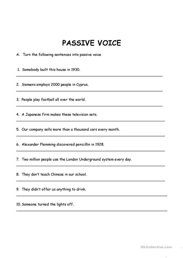 Passive voice-present simple and past simple