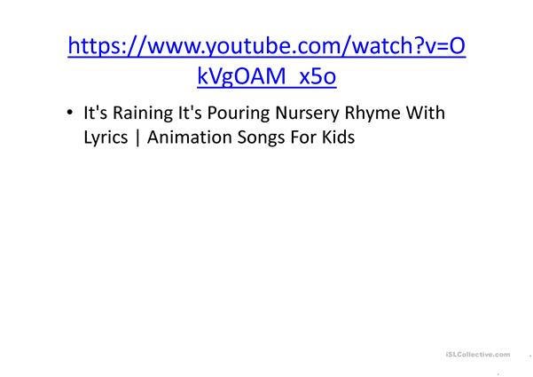 Rain Songs ppt with links to several songs on youtube