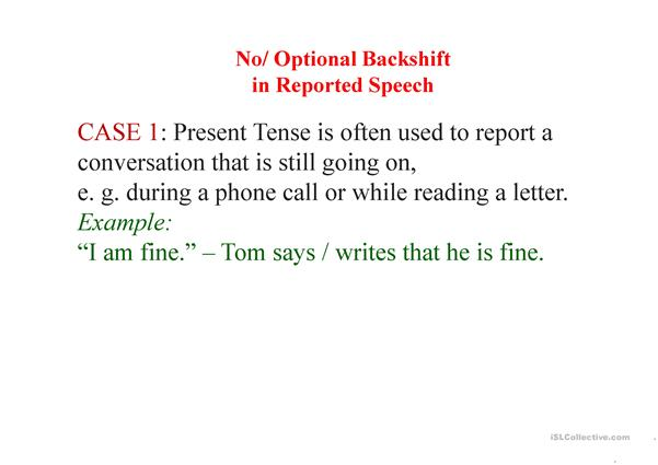SPECIAL CASES OF REPORTED SPEECH