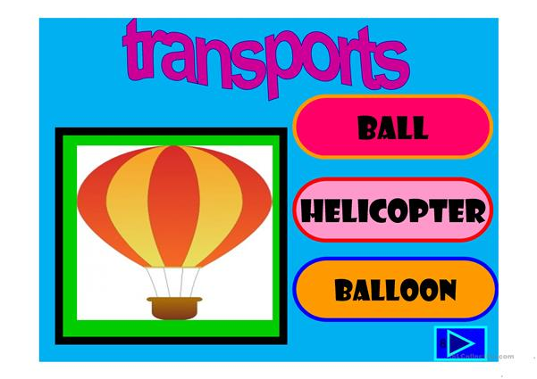 Transports: multiple choice activity