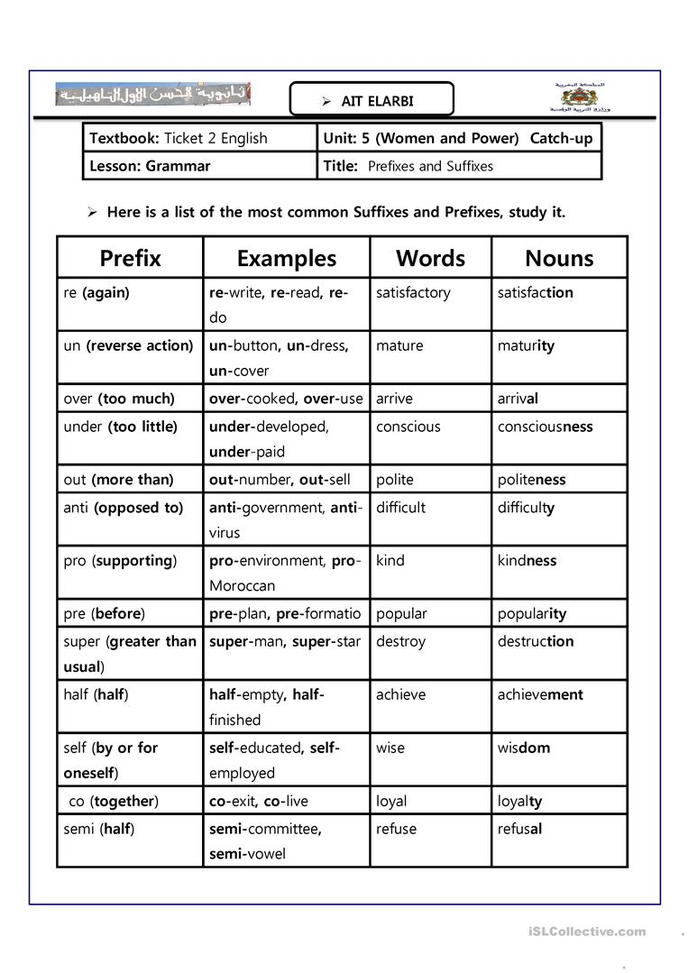 Awesome Fun Worksheets For Kids Free Prefix 4th Graders Prefixes ...