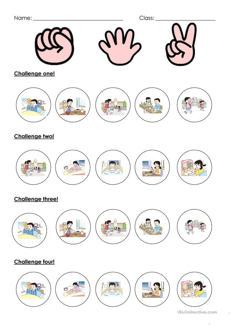 What time activity sheet   English ESL Worksheets for distance ...