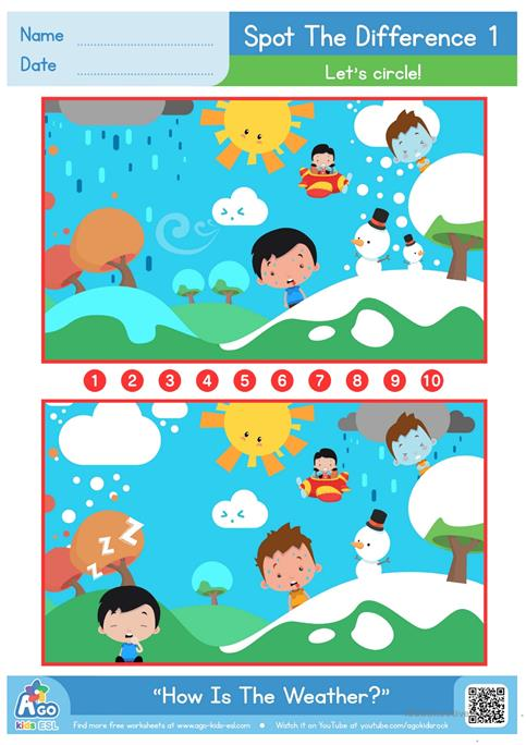 Spot the differences weather and feelings worksheet free esl spot the differences weather and feelings altavistaventures Choice Image