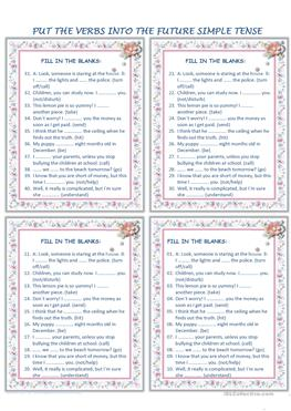 Multiplication Fun Worksheet Pdf Free Esl Efl Printable Worksheets And Handouts Sequencing Worksheets 1st Grade with Household Budget Worksheet Pdf The Future Simple Tense Weather Symbols Worksheet