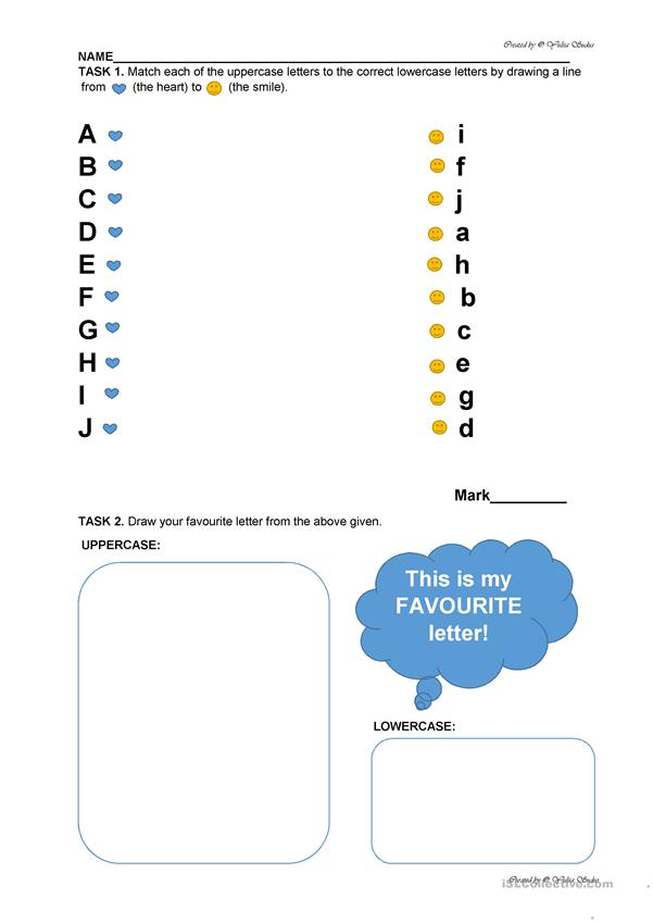 Alphabet Revision Worksheet For Preschool: From Aa to Jj