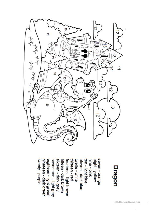 Dragon coloring