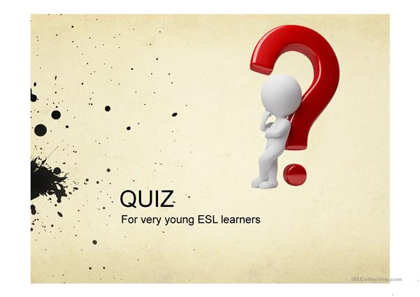 ESL picture quiz for very young learners