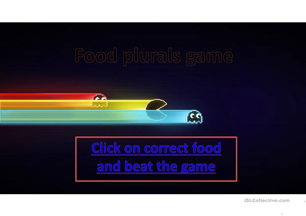 Fruit plurals - pacman game
