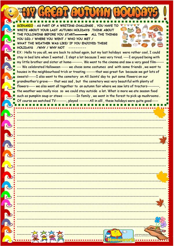 My great autumn holidays : creative writing