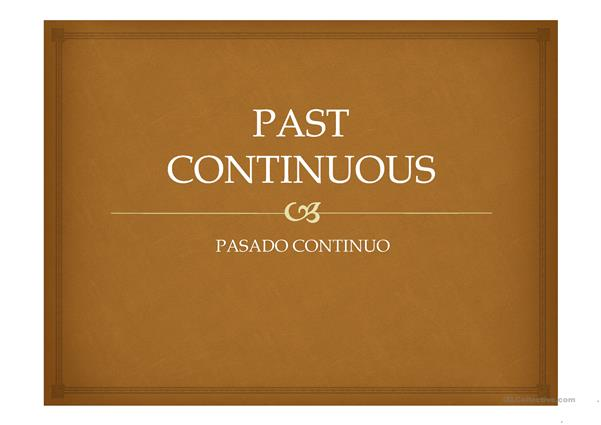 past continuous structure