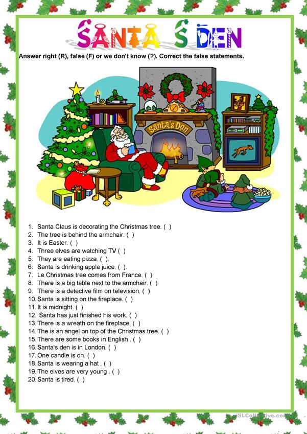 Picture description - Christmas -  Santa's den
