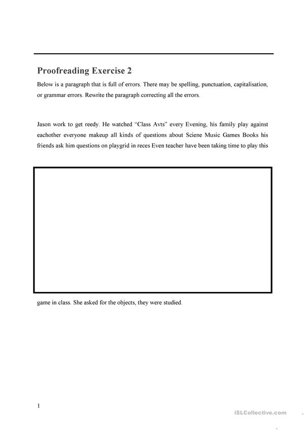 Proofreading Exercise 2