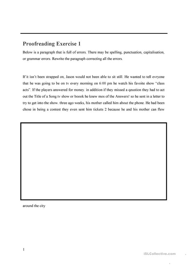 Proofreading WS