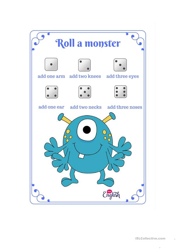 Roll a monster game.