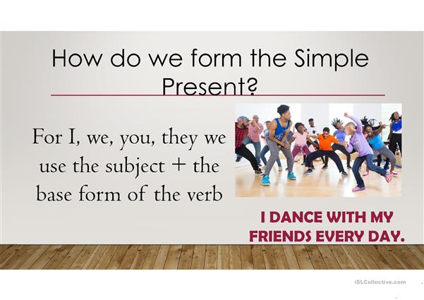 Simple Present explanation