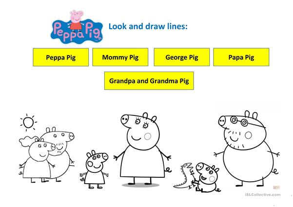 Peppa Pig Family (pre-school) - English ESL Worksheets For Distance  Learning And Physical Classrooms