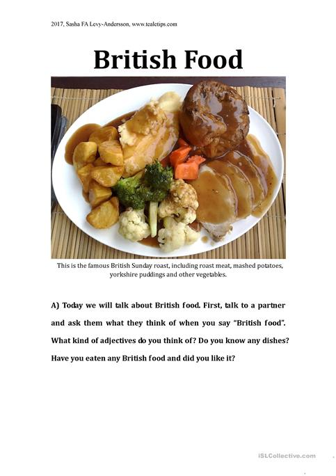 British food discussion lesson worksheet free esl printable british food discussion lesson forumfinder Images