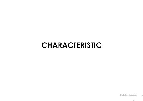 Characteristic Adjectives