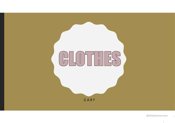 CLOTHESVOCABULARY