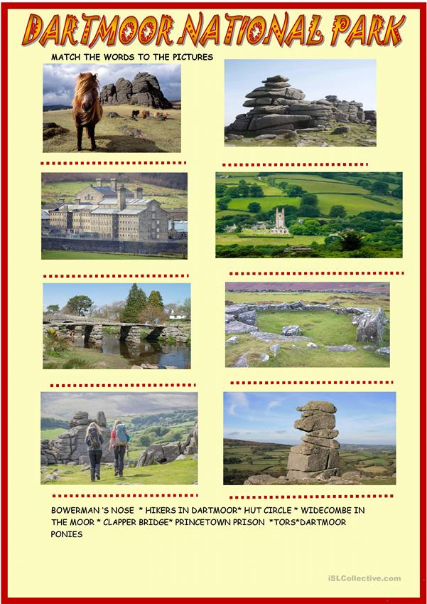 Dartmoor national park : Webquest with key