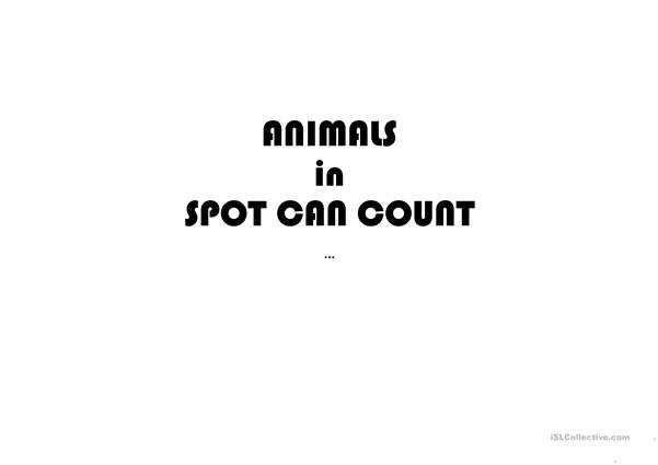 FLASHCARDS: animals in Spot can Count