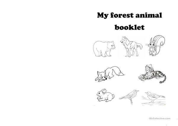 Forest animals book