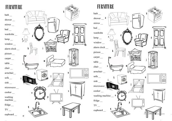 furniture - vocabulary