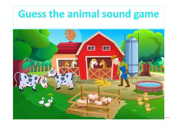 Guess the animal sound - Fun game