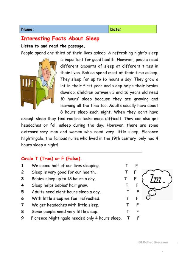 Interesting Facts about Sleep