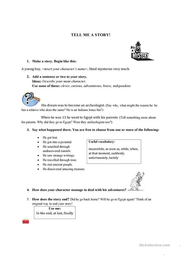 Make a story worksheet