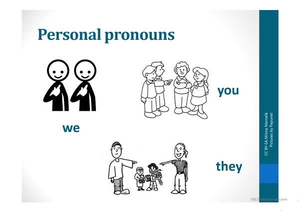 Personal pronouns and to be verb