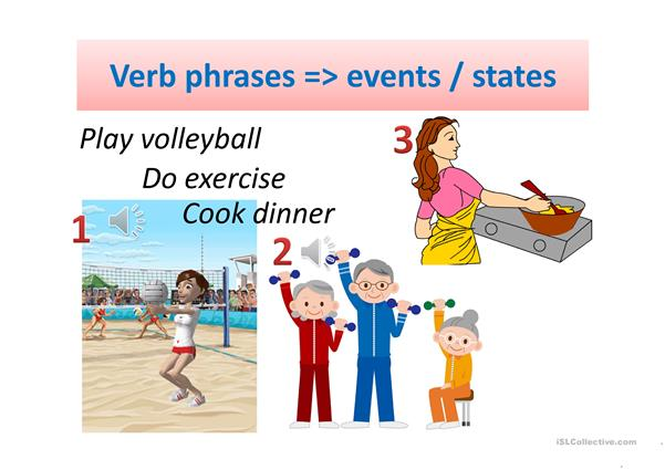Simple Present - Vocabulary - Verb phrases