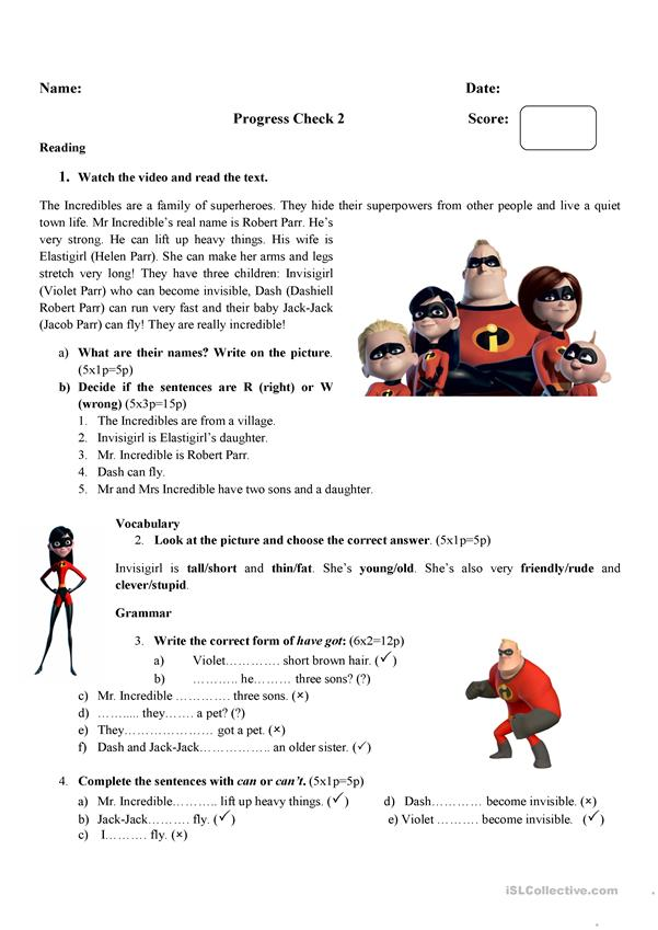 The Incredibles-progress check