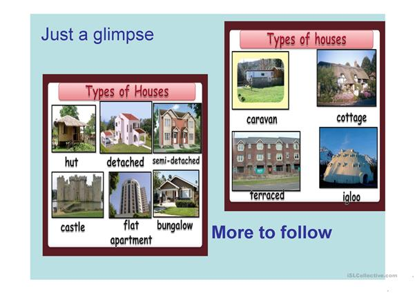 Types of house and more