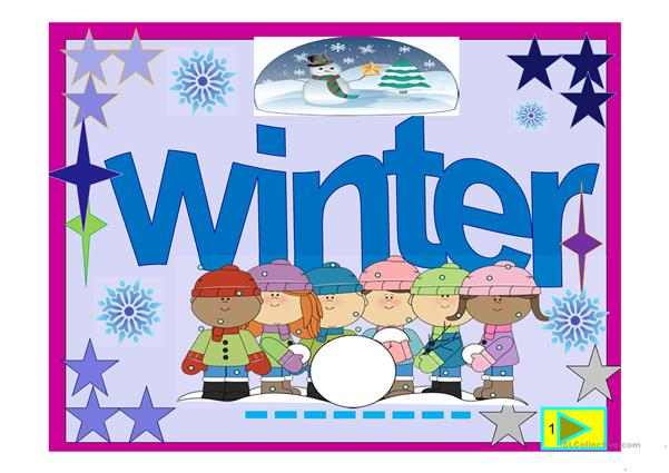 Winter time multiple choice and poem