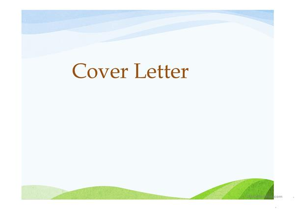 Writing Cover letter