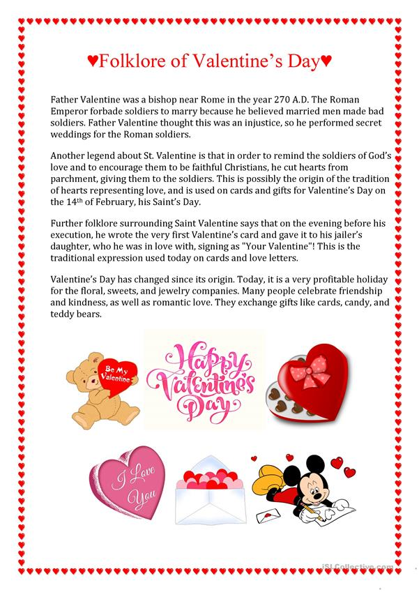 printables of valentine s day comprehension worksheet geotwitter kids activities. Black Bedroom Furniture Sets. Home Design Ideas