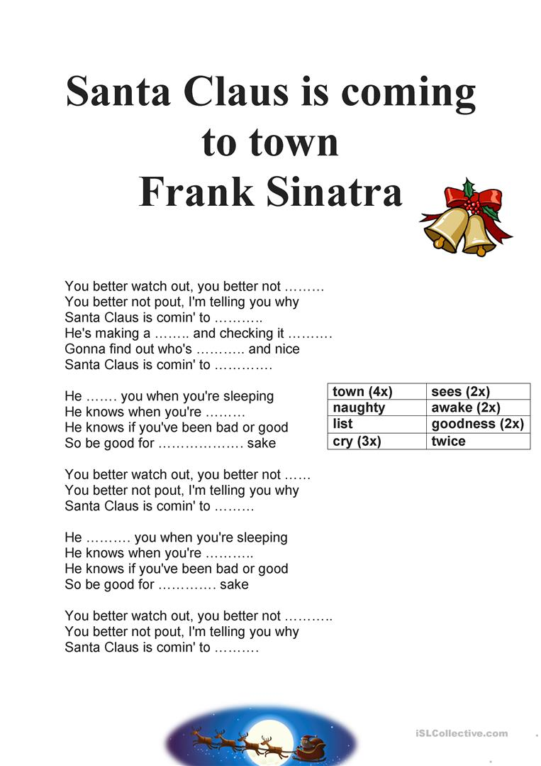 download santa claus is coming to town frank sinatra