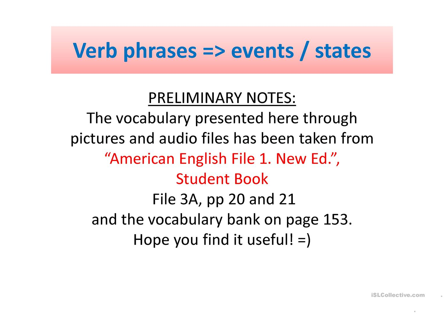 Simple Present Vocabulary Verb Phrases Worksheet Free Esl