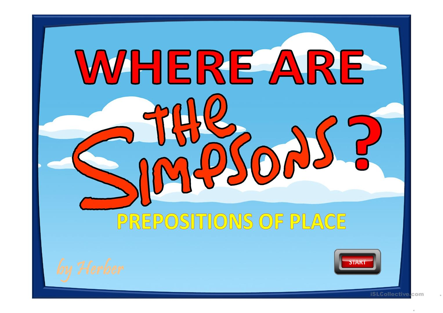 WHERE ARE THE SIMPSONS? worksheet - Free ESL projectable worksheets ...