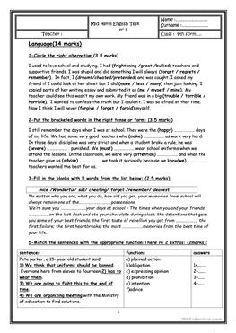 mid term test Worksheets and activities for teaching mid term test to english language learners (kids, teenagers or adults) here you can find printable worksheets for many levels: beginners, elementary, intermediate or advanced.