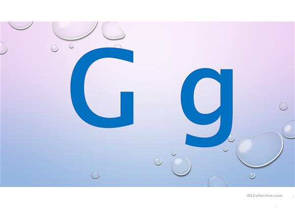 Alphabet words - G