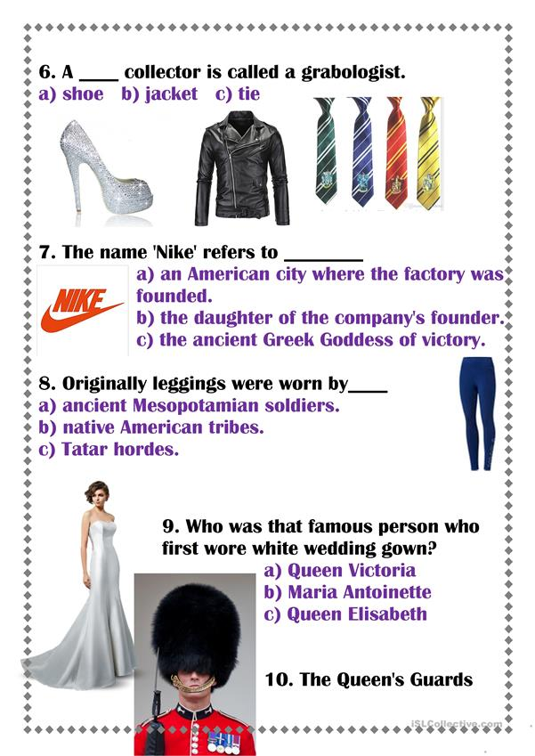 Amazing clothes facts
