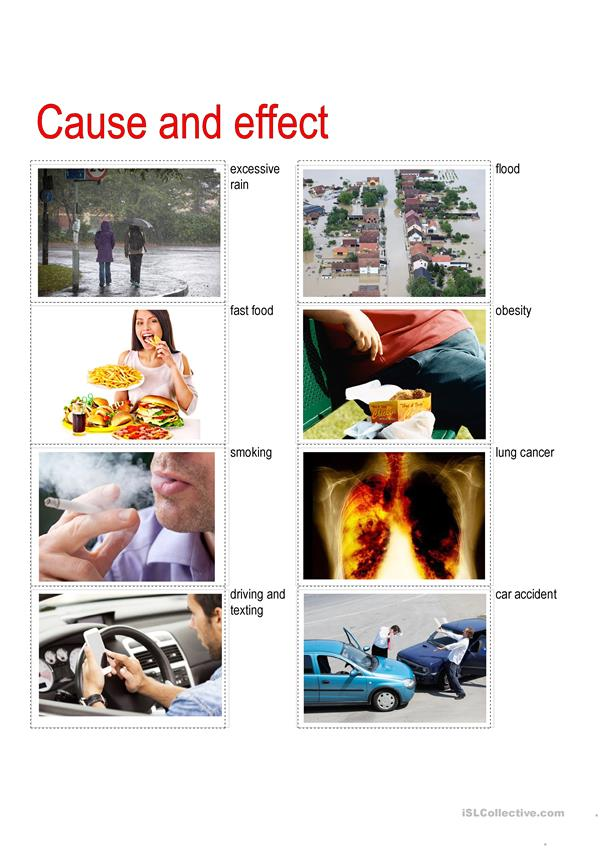 Cause and effect - speaking prompts
