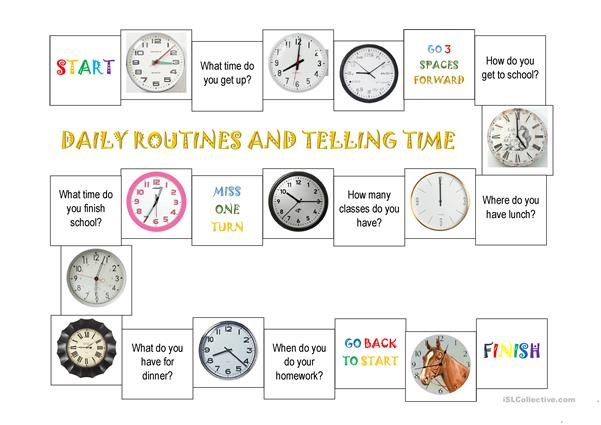 Daily routines and telling time