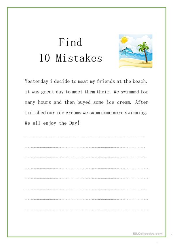 Find 10 Mistakes
