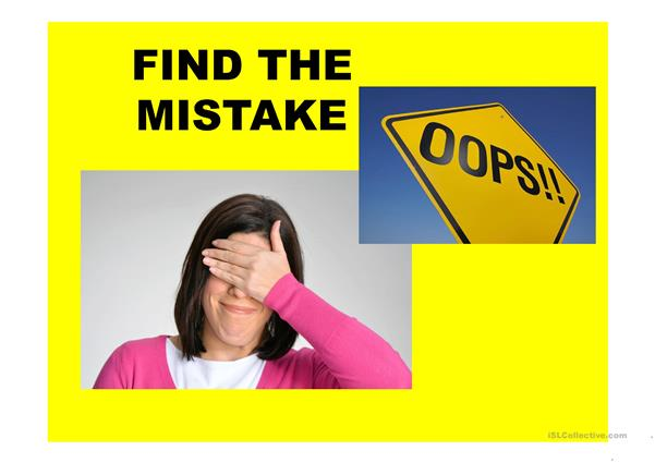 FIND THE MISTAKE PRESENTATION: Present Simple and Present Continuous