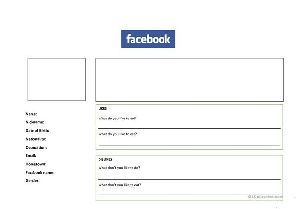 Introductions - Facebook profile - likes and dislikes